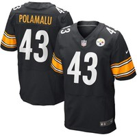 Mens Pittsburgh Steelers Troy Polamalu Nike Black Elite Jersey