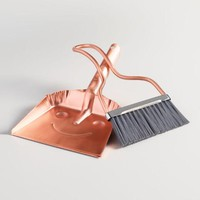 Copper Baby Smiley Dustpan with Broom
