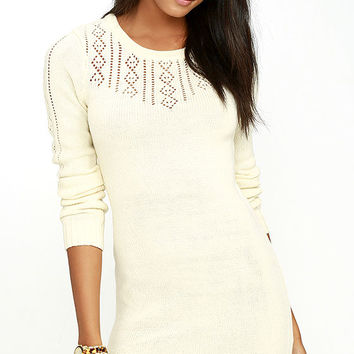 Element Eden Mara Cream Sweater Dress