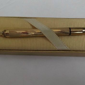 Vintage Cross 10K Gold Filled Pencil Pendant Original Box Unused