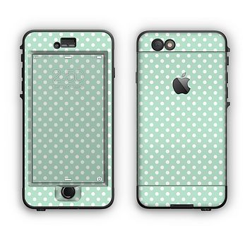 The Light Green with White Polkadots Apple iPhone 6 Plus LifeProof Nuud Case Skin Set