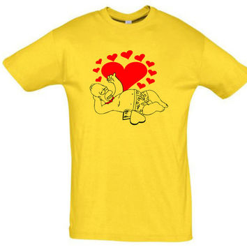Homer Simpson shirt,valentines day gift,valentines day shirt,gift idea,gift for men,men gift idea,romantic gift,funny men shirt,brother gift