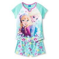 Disney Princess Frozen Girls' 2-Piece Pajama Set - Blue