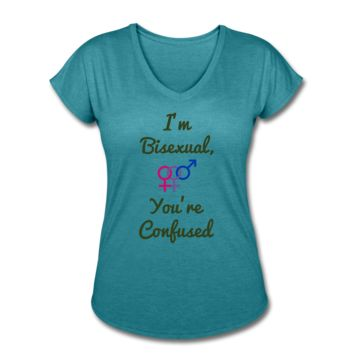 Women's ZMK Style Bisexual LGBTQ Equallty shirt (S-2XL) 4 Colors