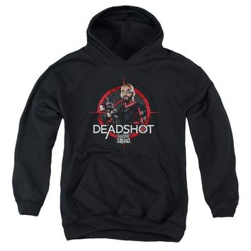 ac spbest Suicide Squad - Deadshot Target Youth Pull Over Hoodie