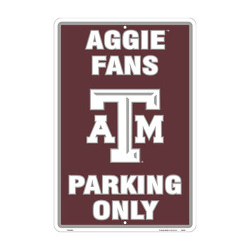 SmartBlonde Texas A & M University Aggie Fans Parking Only Novelty Embossed Vanity Metal Parking Sign PS30063