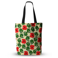 "Sreetama Ray ""No More Peonies"" Red Green Everything Tote Bag"