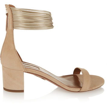 Aquazzura - Spin-Me-Around suede sandals