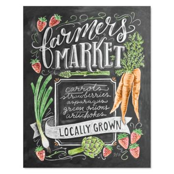 Spring Farmers Market - Print & Canvas