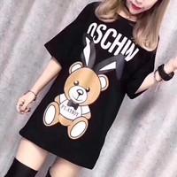 NEW 100% Authentic  Moschino  t shirt ※009