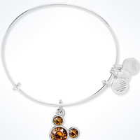Disney Mickey Mouse Birthstone Bangle by Alex and Ani November Silver Finish New
