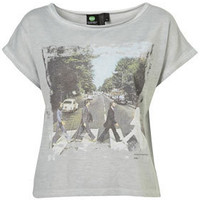 Grey The Beatles Abbey Road Tee By And Finally - Jersey Tops  - Clothing  - Topshop