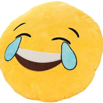 Emoji Crying Laughing Pillow