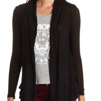 Long Sleeve Slouchy Pocket Cascade Cardigan