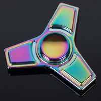 Fidget colorful spinners  Metal  Finger gyro For Autism Stress  Toy Long Time Speed