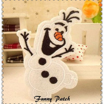 Snowman Olaf Iron on Patch 45-H