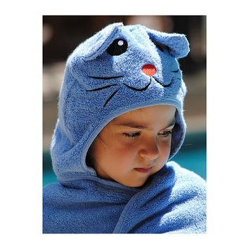 Cat Face Hooded Cotton Turkish Towel