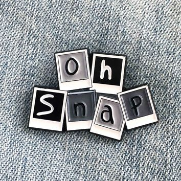 """Oh Snap"" Photograph Enamel Pin"