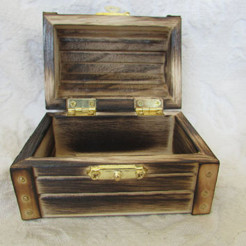 Rustic Wood Burned Ring bearer Box Nautical Wedding Rustic Wedding Country Wedding