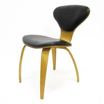 Cherner Style Plycraft Chair in Black Vinyl by HousingAuthority