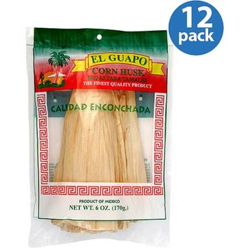 El Guapo Corn Husks, 6 oz, (Pack of 12) - Walmart.com