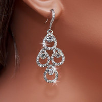 BELLA - Rhinestone Bridal Earrings