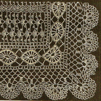 How to make a Victorian Crochet lace shawl-Vintage crochet Pattern pdf instant download