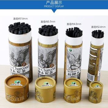Marie's  Sketch charcoal bar C7332 sketch&comic pencils 4 size for choose  art painting supplies stationery 25pcs/barrel