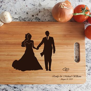 ikb621 Personalized Cutting Board just married wedding gift wedding wooden