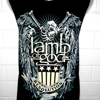 Lamb of God Resolution Metal Rock Band Music Metal T Shirt Tank Top Singlet Vest Size M