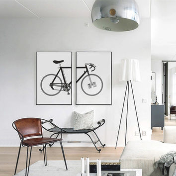 Bike Canvas Painting Modern Abstract Oil  Print Poster Cuadros Art Canvas Wall Picture for Kitchen Bar Cafe Decor No Frame