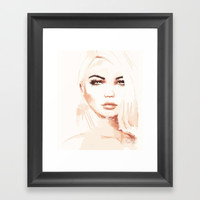 Tone Framed Art Print by Allison Reich