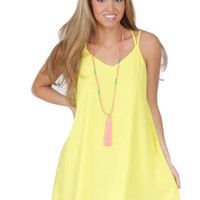 Good To Be Alive Dress in Yellow   Monday Dress Boutique