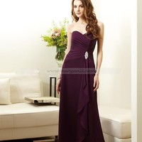 Bridal Party Dresses - Chiffon a-line strapless Bridesmaid Dresses - Style L144011 - Wedding Party - Wedding Apparel - Affordable Wedding Dresses Manufacturer