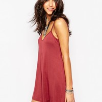 Boohoo Swing Strappy Playsuit