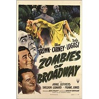 zombies ON BROADWAY vintage movie poster BELA LUGOSI creepy campy 24X36 HOT