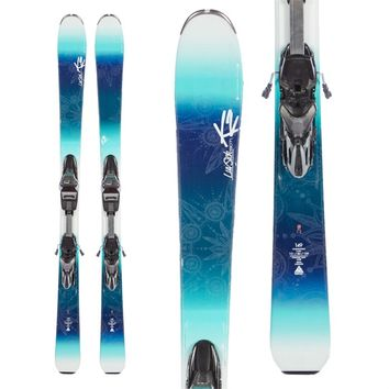K2LUV SICK 80TI SKIS + ERC 11TC BINDINGS - WOMEN'S 2016 - USED