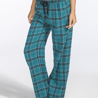 Full Tilt Dream Womens Flannel Pants Teal Blue  In Sizes
