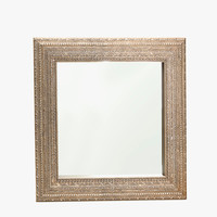 SQUARE MIRROR WITH EMBOSSED DESIGN - Mirrors - Decoration | Zara Home United Kingdom
