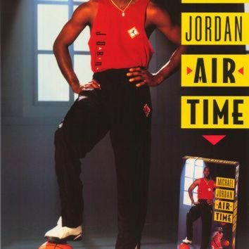 CREYUG7 Michael Jordan Air Time 27x40 Movie Poster (1993)