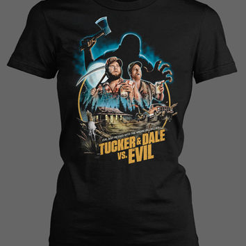 Tucker and Dale vs. Evil V1 - GIRLS [01238] - $27 : Horror T-Shirts : FRIGHT-RAGS, Horror Shirts