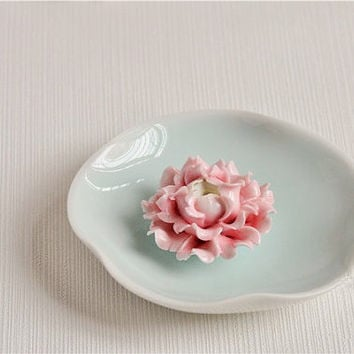 SALES*Christmas* Carnation baby : Incense Stick Holder / Paper Weight / Table Decor / Incense burner / Flower Sculpture