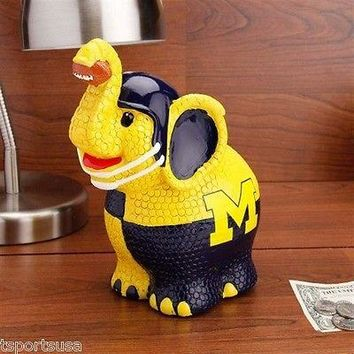 Michigan Wolverines Thematic Elephant Coin Bank NCAA Officially Licensed