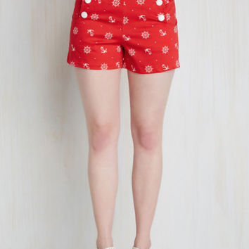 Play by Playful Shorts in Skipper | Mod Retro Vintage Shorts | ModCloth.com