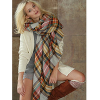 Softest Oversized Plaid Blanket Scarf