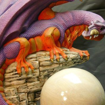 Ceramic Lookout Dragon by GrapeVineCeramicsGft on Etsy