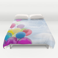 hello there life Duvet Cover by Sylvia Cook Photography