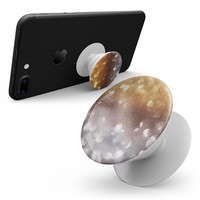 Unfocused Silver and Gold Glowing Orbs of Light - Smartphone Extendable Grip & Stand Skin Kit