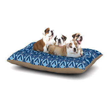 "Julia Grifol ""Blue Deco"" Aqua Pattern Dog Bed"
