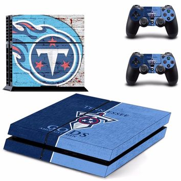Tennessee Titans PS4 Skin Sticker Decal for Sony PlayStation 4 Console and 2 controller skins PS4 Stickers Vinyl Accessory